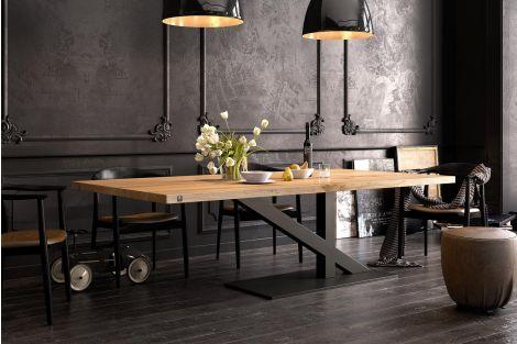 ZAFF 11 - nowoczesny stół z drewnianym blatem
