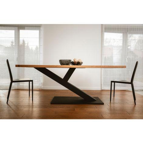 ZAFF 03 - nowoczesny stół z drewnianym blatem